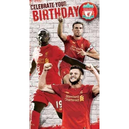 Liverpool Celebrate Your Birthday Card with Badge