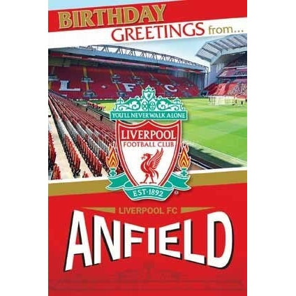 Liverpool Anfield Stadium Pop Up Card