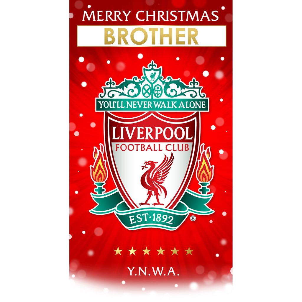 Liverpool FC Any Name Christmas Card Front 2