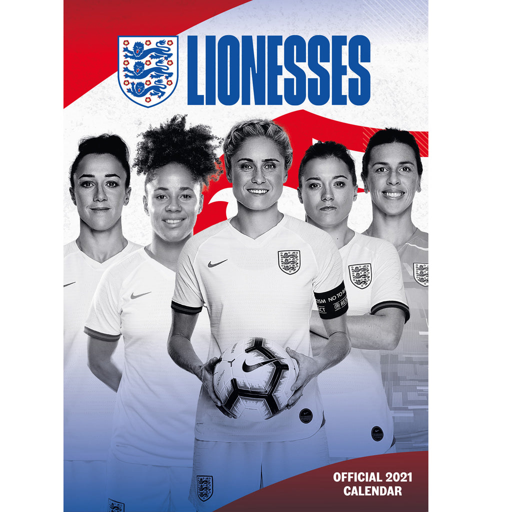 England Lionesses Football 2021 A3 Wall Calendar Front