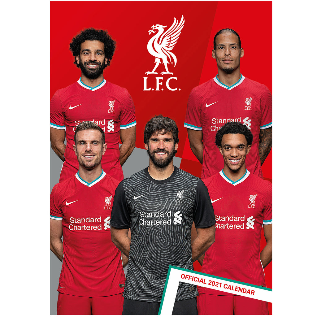 Liverpool FC 2021 Calendar Front Cover