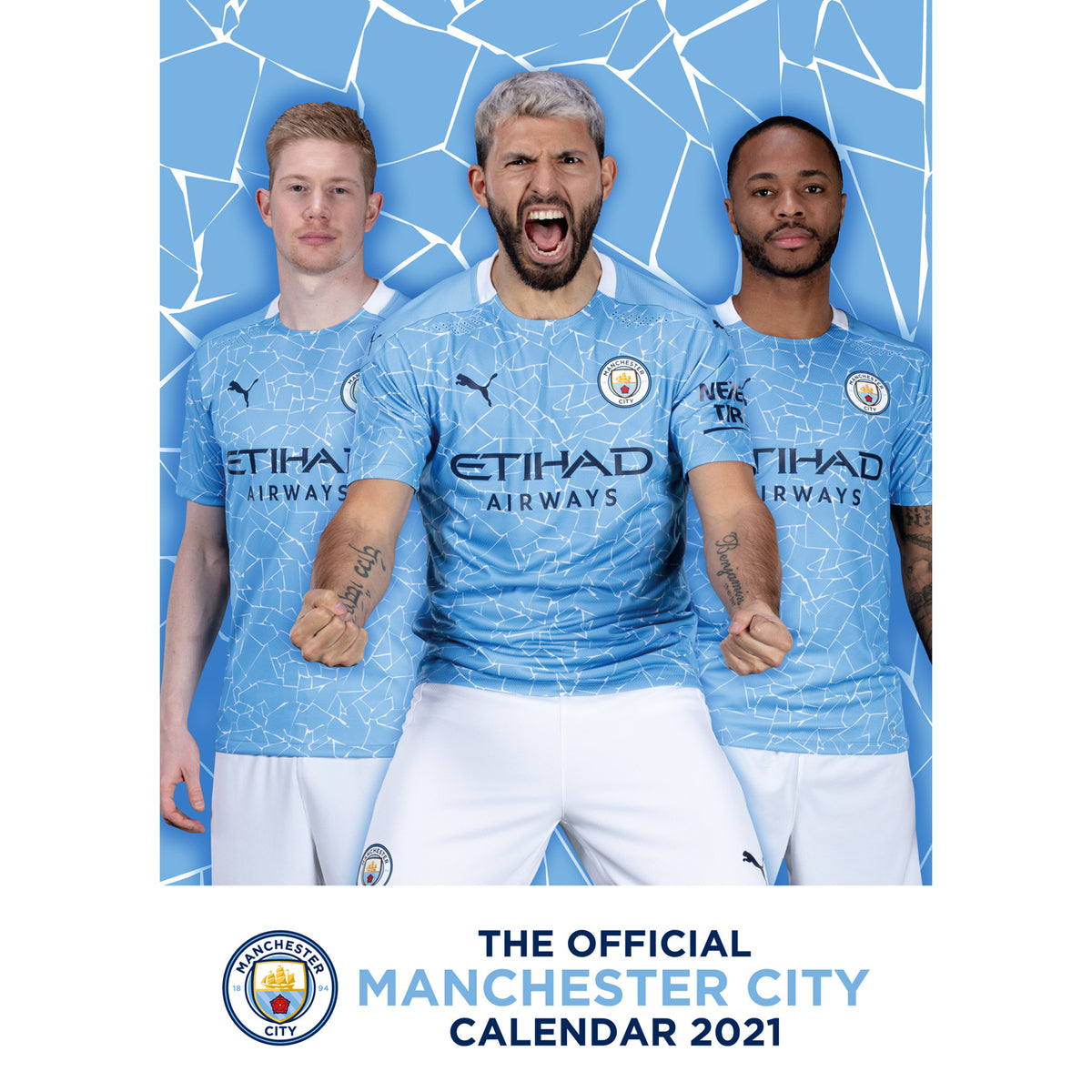 Manchester City Fc Official 2021 A3 Wall Calendar Danilo Promotions