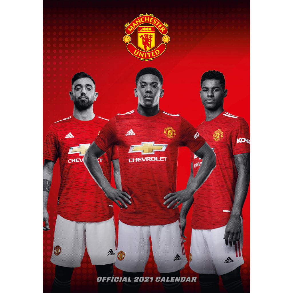 Manchester United FC Official 2021 A3 Wall Calendar – Danilo