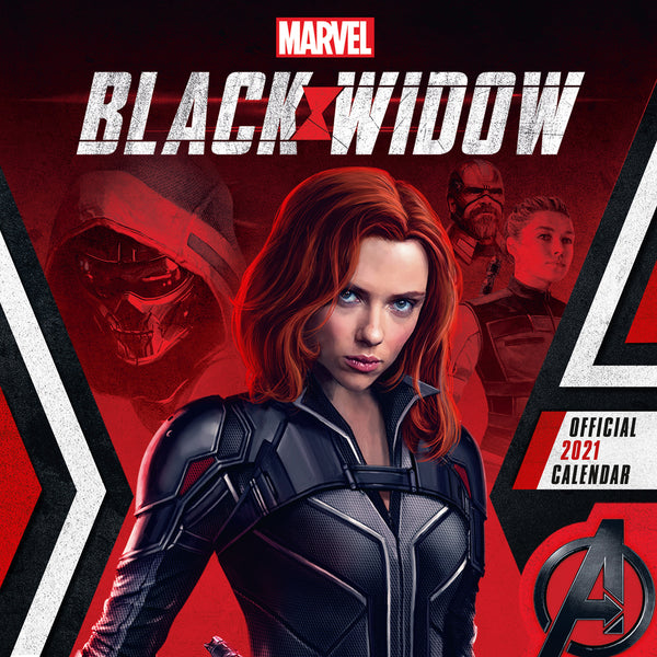 Marvel Black Widow 2021 Square Wall Calendar Front