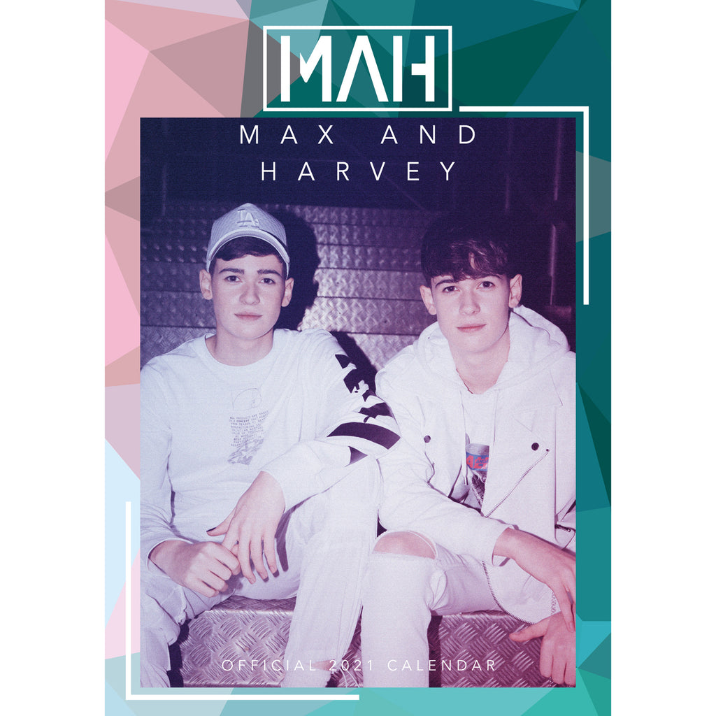 Max & Harvey Official 2021 A3 Wall Calendar Front