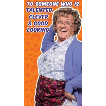 Mrs Brown's Boys Happy Birthday Talented Friend Card