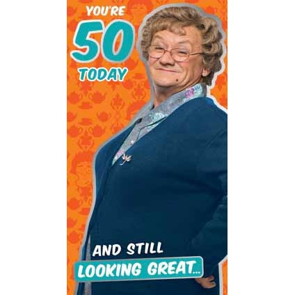 Mrs Brown's Boys Happy 50th Birthday Card