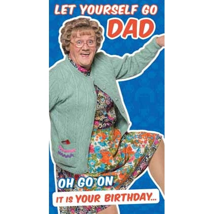 Mrs Brown's Boys Happy Birthday Dad Card