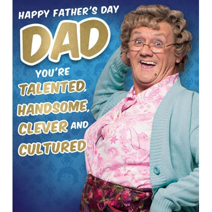 Mrs Brown Boys DAD Fathers Day Card
