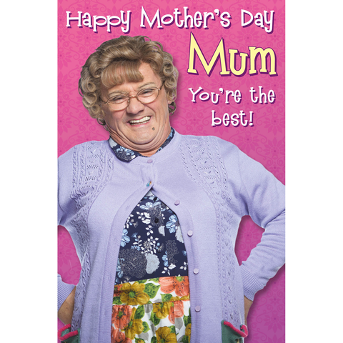 Official Mrs Brown's Boys 'You're the best!' Mother's Day Card