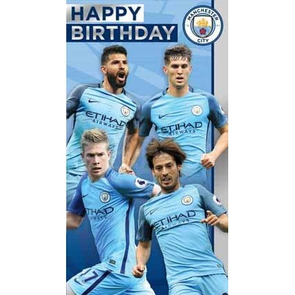Manchester City Birthday Players Card