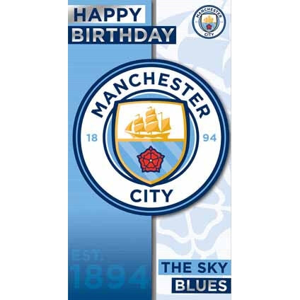 Manchester City Birthday Crest Card