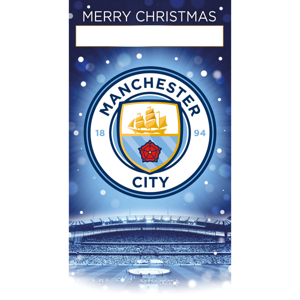 Manchester City Any Name Christmas Card Front
