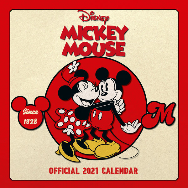 Mickey Mouse Official 2021 Square Wall Calendar FRONT