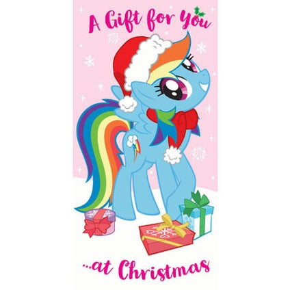 My Little Pony Money Wallet Christmas Card
