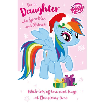 My Little Pony Daughter Christmas Card