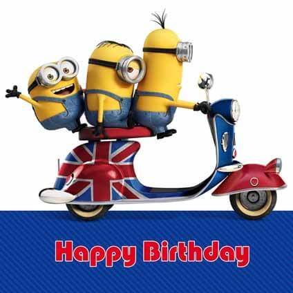 Minion Movie Square Birthday Card