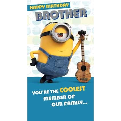 Minion Movie Brother Birthday Card