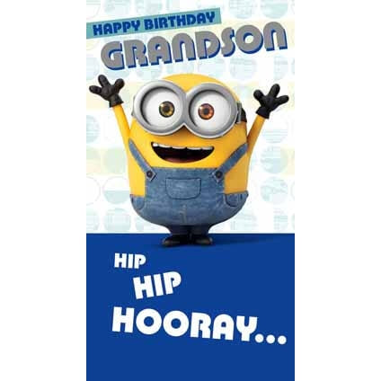 Minion Movie Grandson Birthday Card