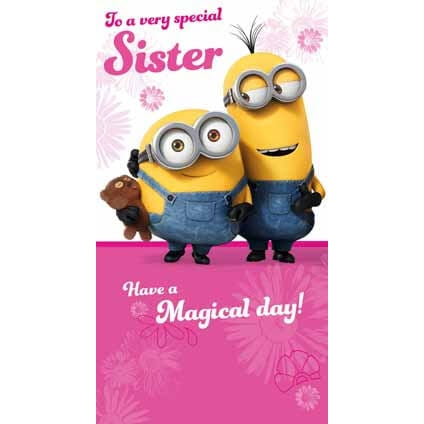 Minion Movie Sister Birthday Card