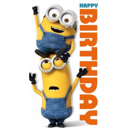 Minion Movie Happy Birthday Card