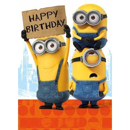 Minion Movie Birthday Card