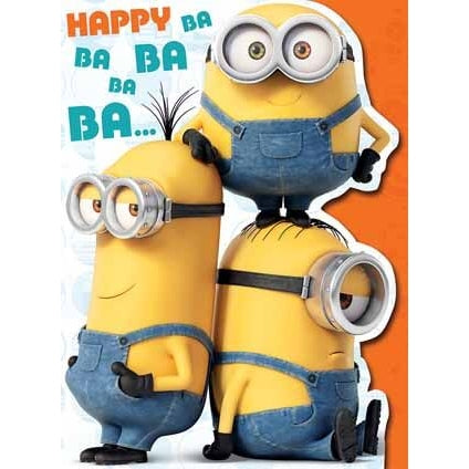 Minion Movie Large Birthday Card