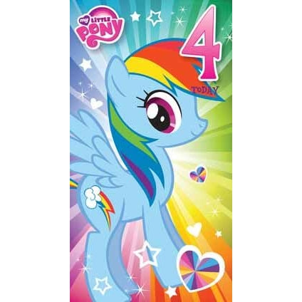 My Little Pony Age 4 Birthday Card