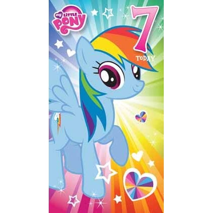 My Little Pony Age 7 Birthday Card
