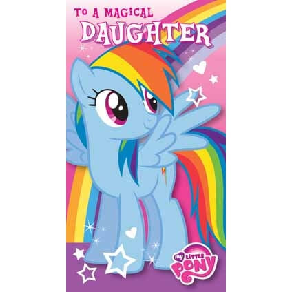 My Little Pony Daughter Birthday Card