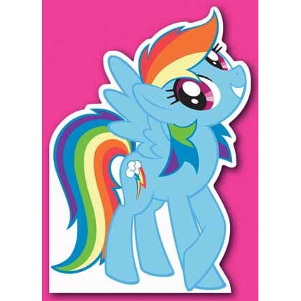 My Little Pony Die-Cut Card