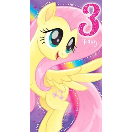 My Little Pony Movie Age 3 Birthday Card