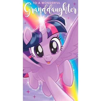 My Little Pony Movie Granddaughter Birthday Card