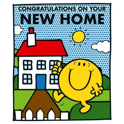 Mr. Men and Little Miss Official Mr. Happy New Home Card