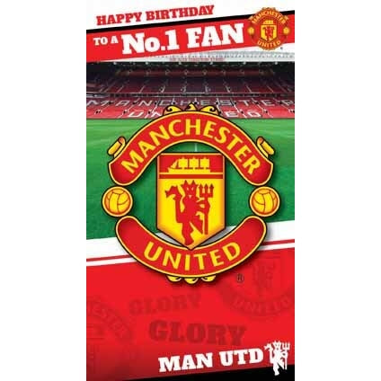 Manchester Utd Happy Birthday to a No.1 Fan Card