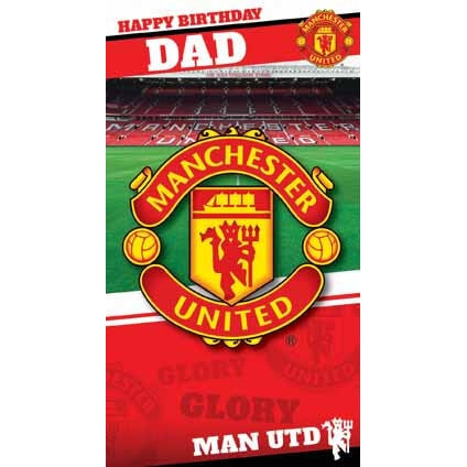 Manchester Utd Dad Birthday Card