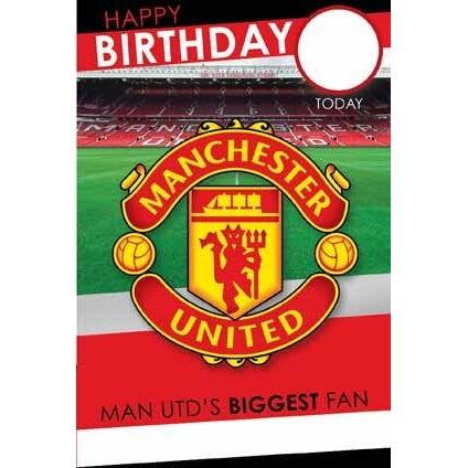 Manchester Utd Any Age, Any Name, Sticker Personalised Card