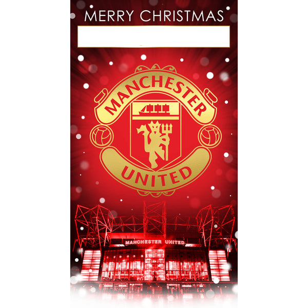 Manchester United Any Name Christmas Card Front