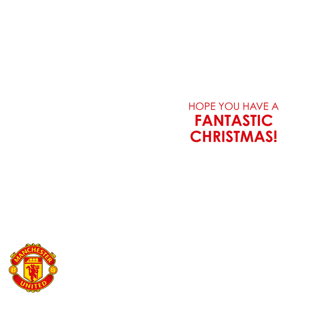 Manchester United Any Name Christmas Card Inside