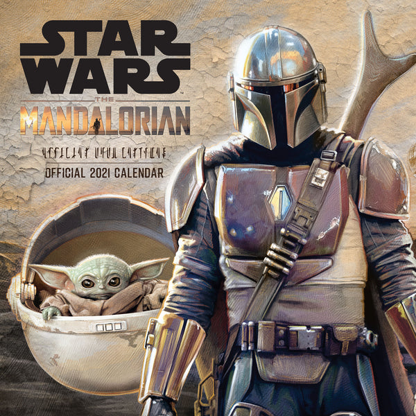 Star Wars: The Mandalorian Official 2021 Square Wall Calendar Front Cover