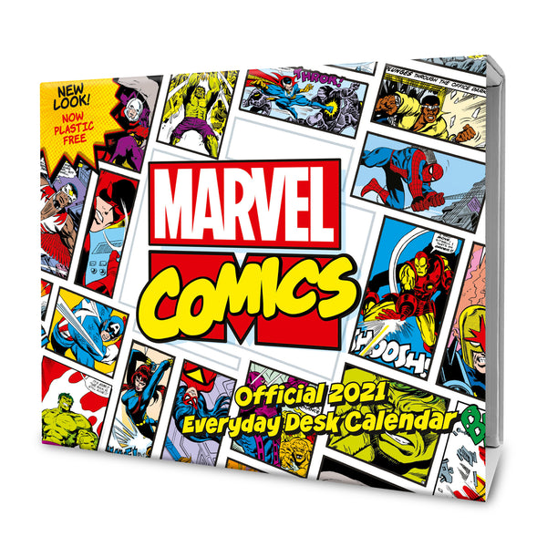 Marvel Comics 2021 Desk Block Calendar Front