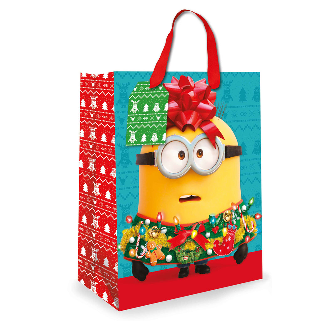 Minions Christmas Gift bag Side 1