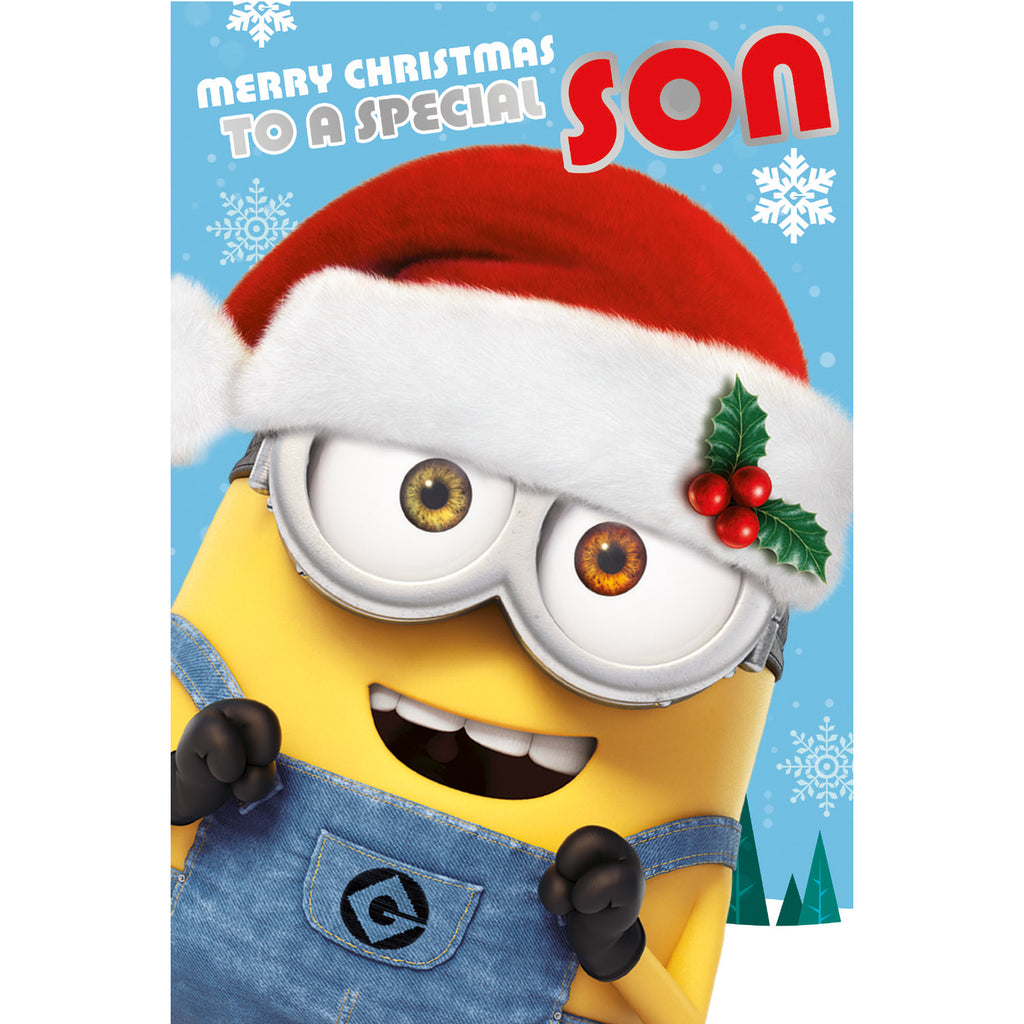 Despicable Me Minions Son Christmas Card