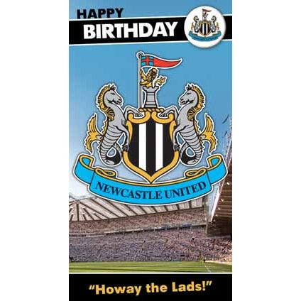 Newcastle Happy Birthday Crest Card with Badge