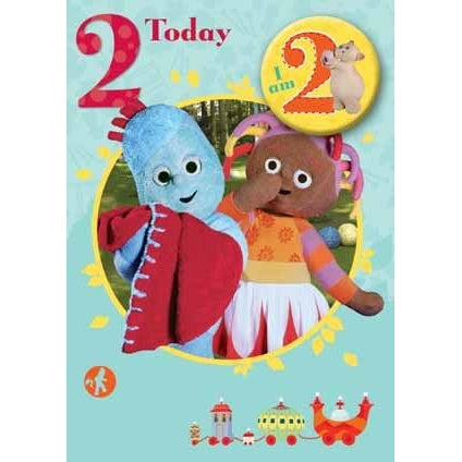 In The Night Garden Age 2 Badged Birthday Card