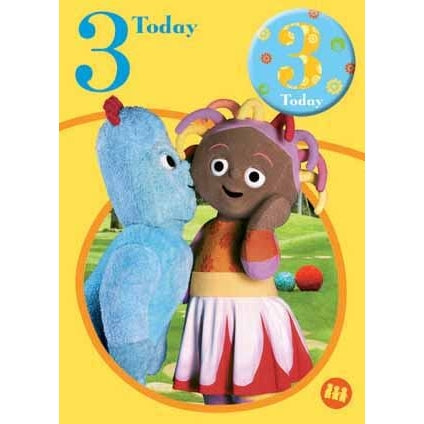 In The Night Garden Age 3 Badged Birthday Card