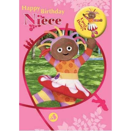 In The Night Garden Niece Birthday Badged Card