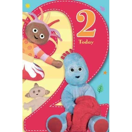 In The Night Garden Age 2 Large Birthday Card