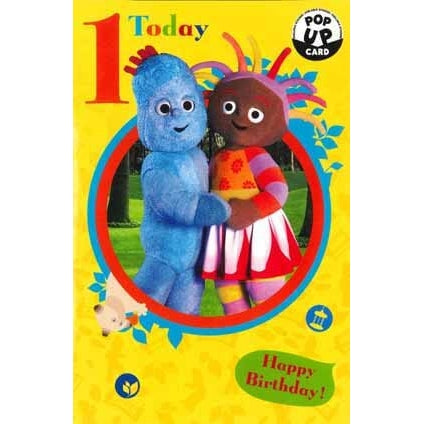 In The Night Garden Age 1 Pop Up Birthday Greeting Card