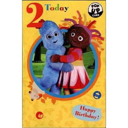 In The Night Garden Age 2 Pop Up Birthday Greeting Card